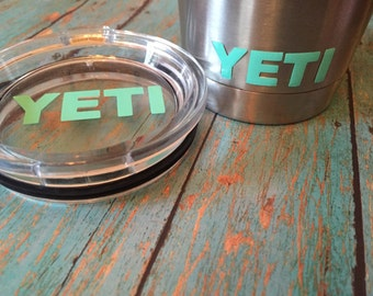 Yeti decal for lid and cup/Custom. 20 oz. and 30 oz./Glitter Choices!