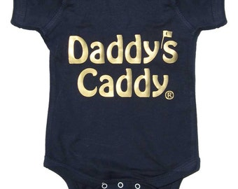 Daddys Caddy Golf bodysuit by Mumsy Goose Newborn Rompers to Kids Tees