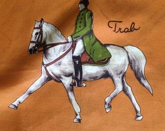 JEAN JACQUES equestrian print Vintage scarf