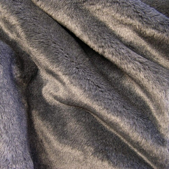 FUR SAMPLE: GRAY Bear Fur Faux Fur Cat Furniture. Fake Fur