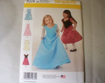 New Simplicity Girl's Dress  Pattern, 1074 AA (1/2,1,2,3) (Free US Shipping)
