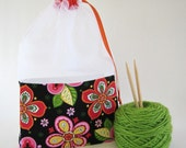 Paisley Fantasy Floral At-A-Glance Knitting/Crochet/Spinning Project Bags Large
