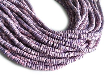 150 coconut beads marblized lilac and pink splashing 4-5mm  (PC220G)
