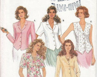 Simplicity Sewing Pattern 8845 Miss Blouse pattern in size 12, 14, 16