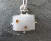 Polka Dot Agate Pendant in Sterling Silver