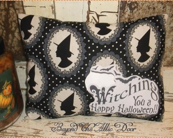 Primitive WITCH Pillow Cupboard Tuck Happy Halloween