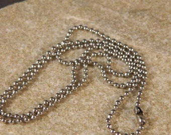 Stainless Steel Ball Chain w/connector clasp