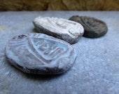 Artisan made ceramic pendants - set of 3 - Buddha amulets