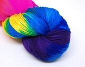 """Hardcore Sock Yarn - """"Milky Way"""" - Handpainted Superwash Merino - 463 Yards"""