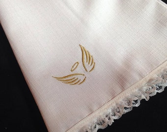 Angel Wings with Halo Mini Embroidery Design