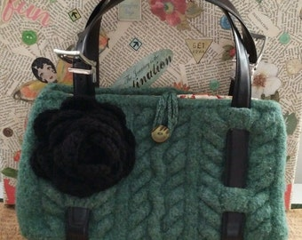 handmade felted purse