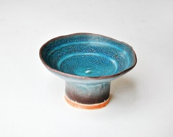 A hand built bowl  in porcelain with concentric circle  design