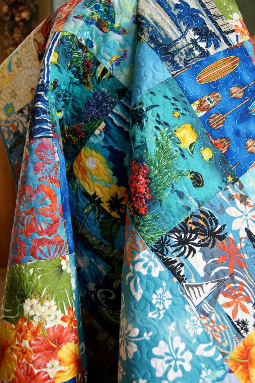 Quilt Baby Nursery Bedding Hawaiian Surfboards By Piecesofpine