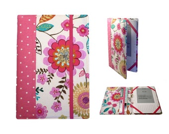 Kindle Paperwhite Cover, Kindle Cover Hardcover, Kindle Case,Kindle Fire HDX, NookGlowLight, Pink Flowers