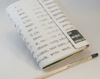 Be Wicked Creative Blank Notebook, Sketchbook or Journal with Funky Upcycled Recycled Pages