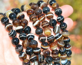 1 Strand Botswana Agate 10mm Round Beads BD972