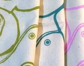 Tea Towels/Handmade/Hand-Printed Tea Towels/3 pack/Classic Mixer Motif/Maine Made/Fair Trade/FREE SHIPPING