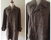 vintage Mens HENRIK wool coat, Danish Modern mens trench