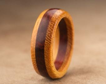 Size 8 - Orange Redheart Wood Ring No. 23