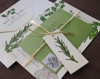 Herb Farm to Table Wedding Invitation