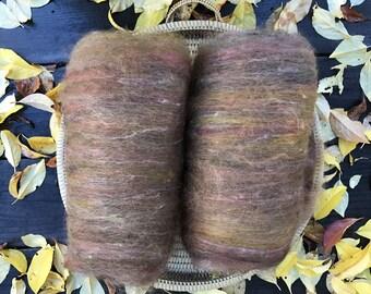 DESTASH SALE Alpaca and Wool Batt Spinning Fiber 100 grams 3.5 ounces price reduced