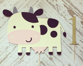 Cow Cake Topper- smash cake, first birthday