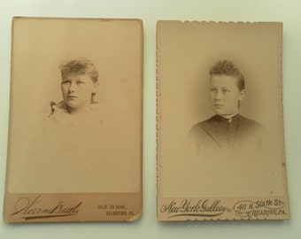 Two Sepia Toned Victorian Age Photographs
