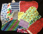 Scrap Pack #2 ~ Knit Cotton Irregular Cuts Plus Large Dyed Bamboo Velour Cut for Cloth Pads ~ Talulah Bean
