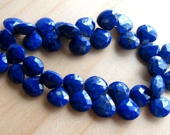 SALE,  Lapis faceted heart briolette