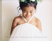 As seen on Style Me Pretty - Classic Ivory Tutu Dress - Flower Girl dress