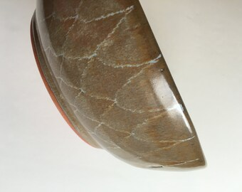 Item 300 Rust Periwinkle Patterned Bowl