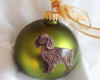 Boykin Spaniel Hand Painted Christmas Ornament - Can Be Personalized with Name