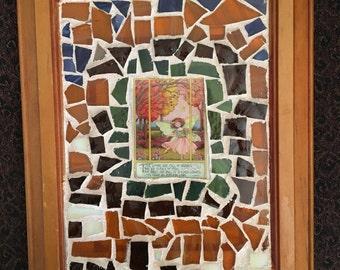 Autumn Woodland Fairy Mosaic Wall Art