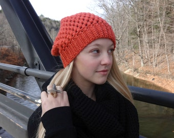 Red Slouchy Beanie Hat: The Slacker