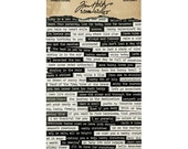 Small Talk Quote Stickers for jewelry, scrapbooking, card making. Tim Holtz Idea-ology