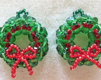 KIT Christmas Wreath Earrings Jewelry Making