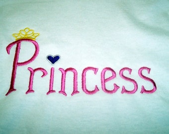 Princess-Queen-Crown-Custom Embroidered Pillowcase-FREE SHIPPING