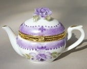 Purple Teapot Ring Box