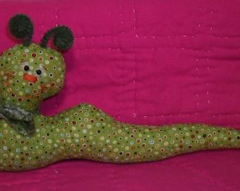 Garden Greens cloth caterpillar doll