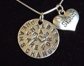 Sister necklace, Sisters necklace, Sisters are forever necklace, Sisters charm, Sisters gift, Sister gift, Gift for sister