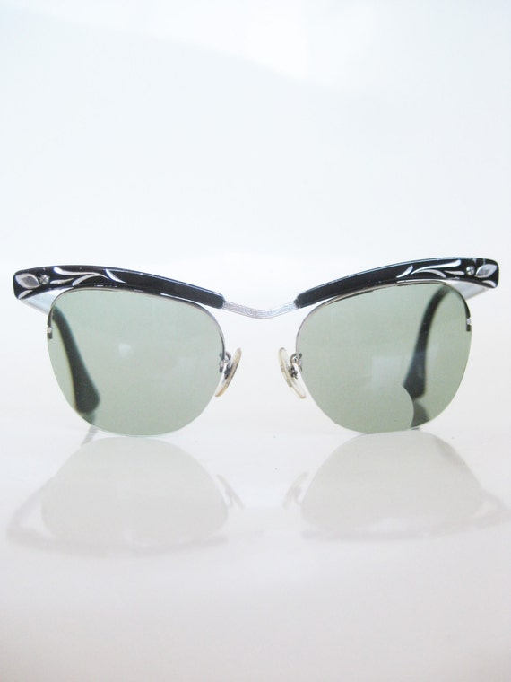 black rockabilly eyeglasses cat eye glasses bausch and lomb