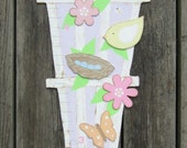 DAISY GARDEN TRELLIS Wood Growth Chart - Hand Painted Keepsake 5' or 6' High