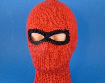 HALF PRICE SALE Digital file pdf download knitting pattern only-Chunky Ski mask Balaclava knitting pattern pdf download by madmonkeyknits