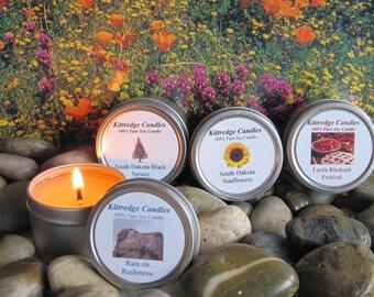 SOUTH DAKOTA SAMPLER (four 2-oz soy candles)