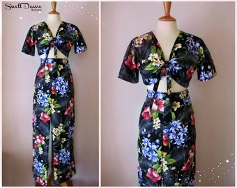 Swell Dame 1940s trousers and tie shirt with Hawaiian tropical print fabric MANY FABRIC choices!!!