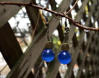 Blue and Bronze Swirl