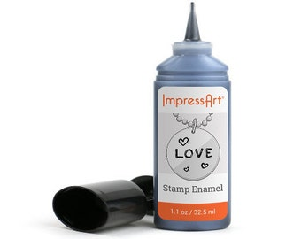 Stamping Enamel For Darkening Stamp Impressions By Impressart