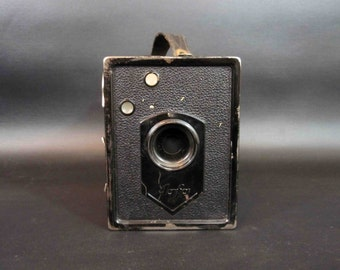 Vintage Agfa Box 44 Camera with Original Leather Case