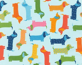 Urban Zoologie Dogs Spring Dachshunds Robert Kaufman Fabric, Choose your cut