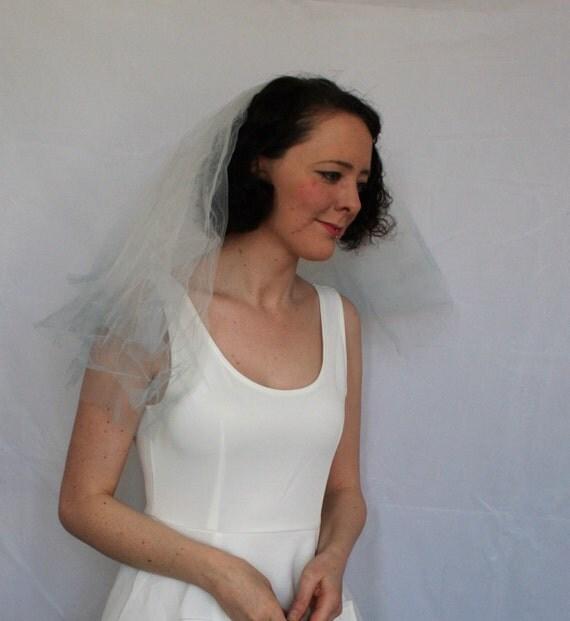 Dip dyed wedding veil - Blue veil - Hen party veil - Mermaid Veil - Alternative veil - Ombre veil